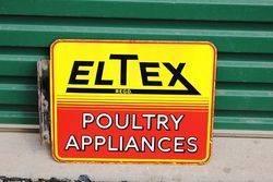 Eltex Double Sided Enamel Sign With Bracket.#