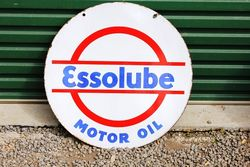 Essolube Double Sided Enamel Sign