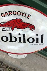 Mobiloil Gargoyle Double Sided Enamel Sign