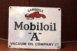 Mobiloil Gargoyle Enamel Advertising Sign #