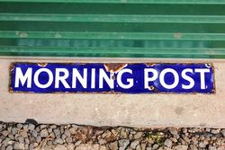 Morning Post Small Enamel Advertising Sign.#