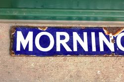 Morning Post Small Enamel Advertising Sign