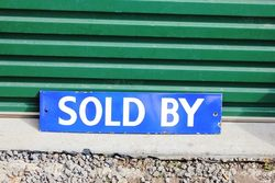 Sold By Enamel Sign