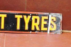 Englebert Tyres Embossed Tin Strip Sign