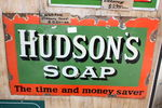 Antique Hudson`s Soap Enamel Sign.