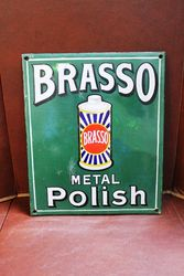 Brasso Metal Polish Enamel Sign. .#