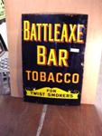 Classic Battle Axe Tobacco Enamel Sign.