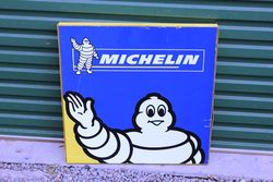 Modern Michelin Double Sided Tin Advertising Sign.#