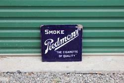 Piedmont Cigarette Double Sided Enamel Sign.#