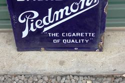 Piedmont Cigarette Double Sided Enamel Sign