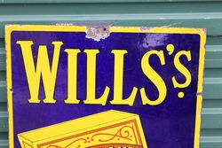 Wills Gold Flake Pictorial Enamel Sign