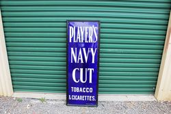Framed Players Cigarette Enamel Sign.#