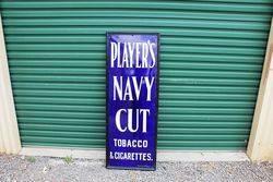 Framed Players Cigarette Enamel Sign.#
