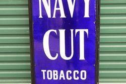 Framed Players Cigarette Enamel Sign
