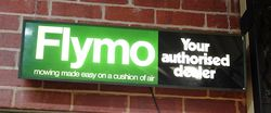 Flymo Dealership Advertising Light Box.#