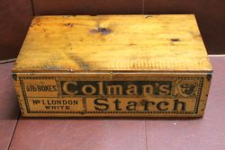 Antique Colman's Starch Original Wooden Display Box#