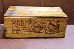 Antique Robin Starch Original Display Wooden Box.#