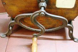 Antique Oak Knife Cleaner