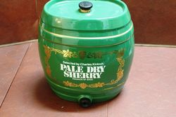 Ceramic Pale Dry Sherry Dispenser Barrel.#