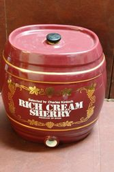 Ceramic Rich Cream Sherry Dispenser Barrel.#