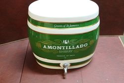 Large Ceramic Amontillado Sherry Dispenser Barrel.#
