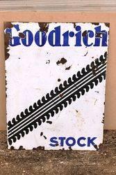 Goodrich Stock Double Sided Enamel Sign.#