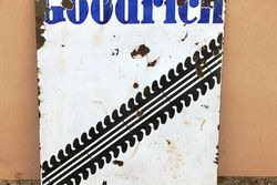 Goodrich Stock Double Sided Enamel Sign