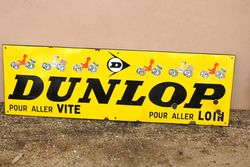 Classic Dunlop Pictorial Advertising Sign.#