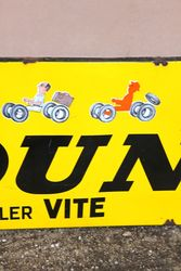 Dunlop Pictorial Advertising Sign