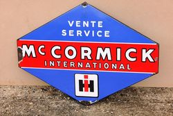 Classic McCormick Lozenges Shape Enamel Service Sign.#