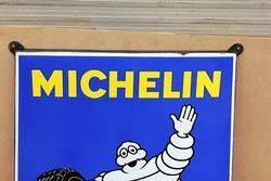 Michelin Shield Enamel Sign