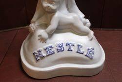Large Nestle Advertising Porcelain Figure