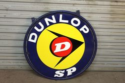 Dunlop SP Double Sided Enamel Sign With Bracket
