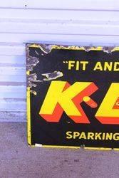 KLG Spark Plugs Enamel Sign