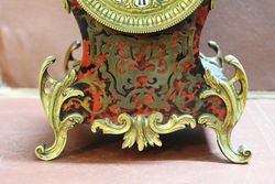 19th Century Small Boulle Mantle Clock