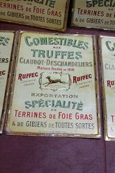 Embossed French Tin Grocery Advertising Signs