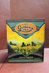 6 lbs Inglis Goldenia Pictorial Tea Tin.