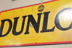 2 Piece Dunlop Tyres Enamel Sign