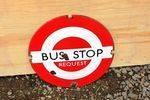 Bus Stop Enamel Sign