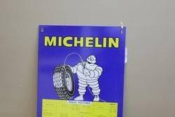 Genuine Michelin Tin Tyre Chart