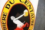 Antique Centaure Beer Post Mount Double Enamel Sign