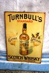 Antique Turnbulls Scotch Whisky Embossed Tin Sign.