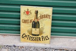 Embossed French Champagne Tin Sign.#
