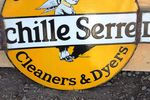 Achille Serrel Cleaners Double Sided Enamel Sign