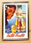Retro Tutti Frutti Shop Advertising Card.