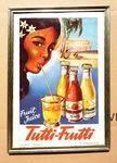 Retro Tutti Frutti Shop Advertising Card.