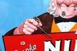 Vintage Nut Brown Pictorial Enamel Sign