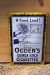 Antique Ogdens Guinea Gold Tobacco Enamel Sign.#