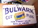 Classic Pictorial Smoke Bulwark Enamel Sign