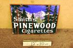 Classic Smith`s Pinewood Cigarettes Double Sided Enamel Sign.